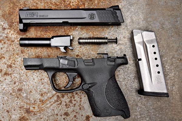 Handgun in pieces for repairs.